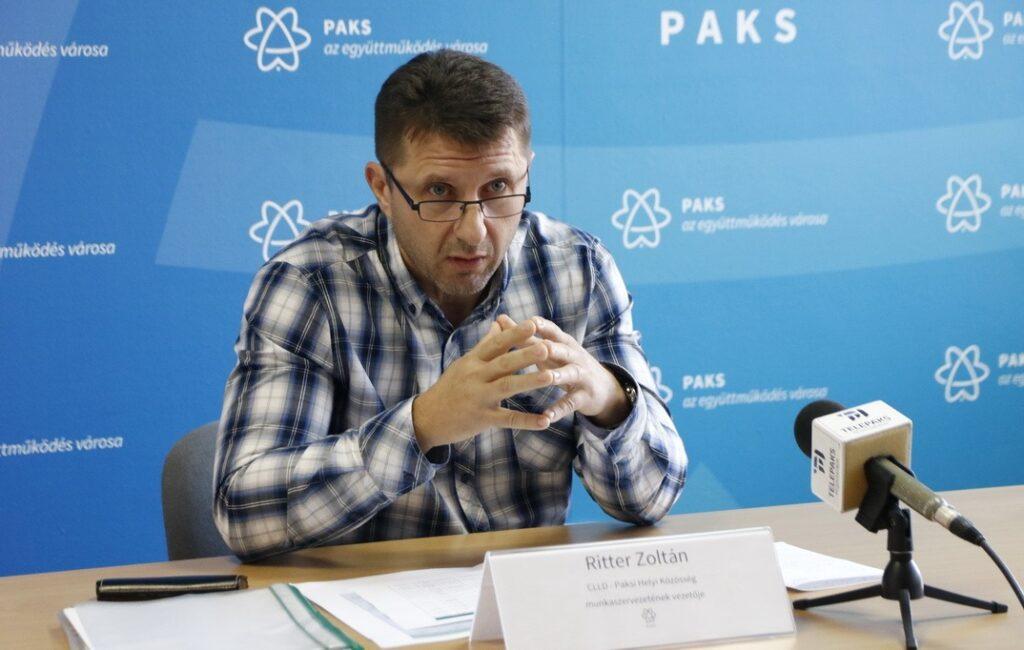 Ritter Zoltán, a Paksi Helyi Közösség munkaszervezetének vezetője. Fotó: Molnár Gyula/Paksi Hírnök