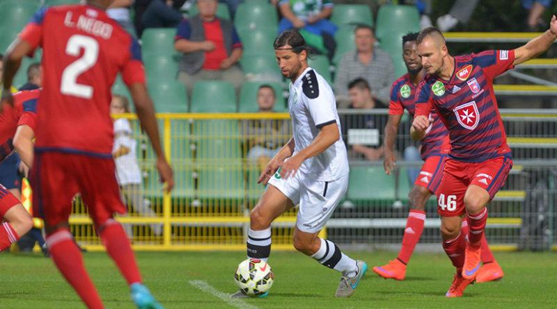Bartha László akcióban. Fotó: Molnár Gyula/Paksi FC