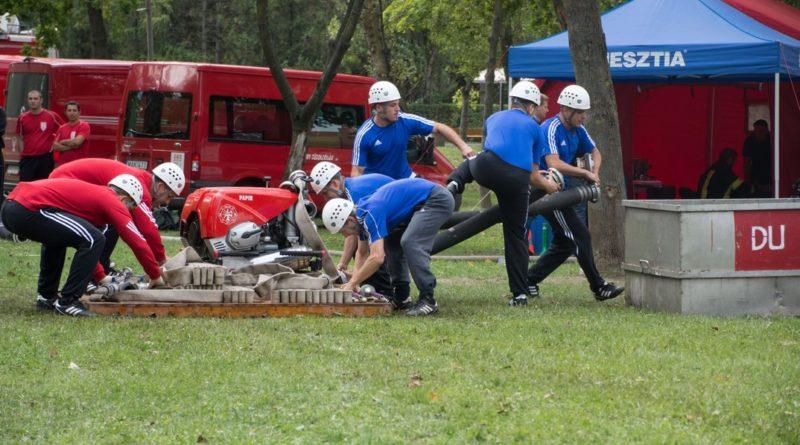 Létesítményi tűzoltók versenye. Fotó: Atomerőmű Tűzoltóság