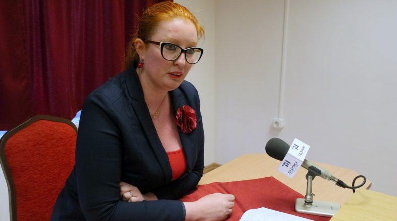 Heringes Anita, az MSZP-Párbeszéd országgyűlési képviselőjelöltje. Fotó: Molnár Gyula/Paksi Hírnök