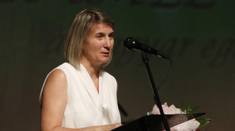 Pámer Ágnes kapta 2019-ben a Pongrácz Sándor-díjat. Fotó: Molnár Gyula/Paksi Hírnök